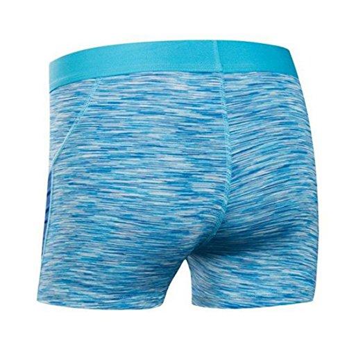 Vertvie Femme Shorts de Sport Cuissard Taille basse Ceinture Élastique pour Yoga Fitness Jogging Bleu