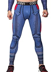 Cody Lundin Pantalones Hombre de Tight Culturismo Pantalones Fitness Slim Hombres Polainas