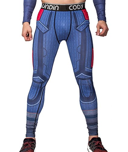 Cody Lundin Herren Amerika führend Held gedruckt Fitness laufen Leggins männliche Partei lange Sport Hosen (M)