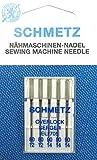 5Schmetz Overlock serger coser agujas Surtido (plano pistón) elx705grosor 80/12/90/14