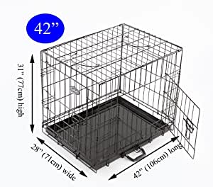 Easipet Puppy Cage for Dog, 106 x 71 x 77 cm, Black