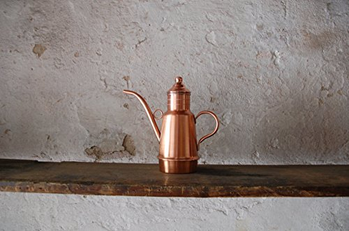 Bottega Donnini Oil Cruet Copper Artisanal Product Made in Italy, 4 Different Sizes: from 0,4 Liters to 1 Liter
