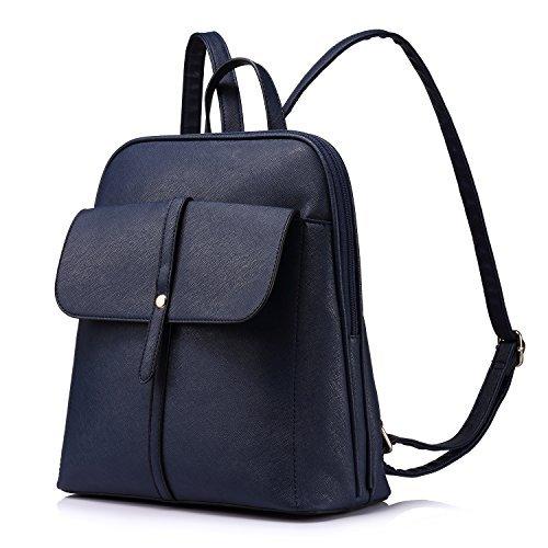 Rucksack Damen Schulranzen Damen Großen Kapazität Reisetasche,Blau