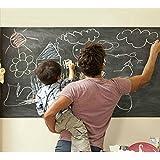 Reusious - Pizarra para pared adhesiva, de alta calidad, muy grande, vinilo, medidas: 48 x 200 cm, borrable, creativa y para organizar tu casa u oficina