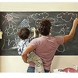 Kreidetafel-Wandaufkleber, extra große Tafel, Kontaktpapier-Vinyl, Größe: 45 x 200 cm, radierbar, kreativer Organizer für Ihr Zuhause oder Büro