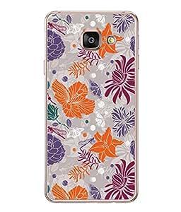 PrintVisa Designer Back Case Cover for Samsung Galaxy A3 (6) 2016 :: Samsung Galaxy A3 2016 Duos :: Samsung Galaxy A3 2016 A310F A310M A310Y :: Samsung Galaxy A3 A310 2016 Edition (Cloth Design Work Flower Bale Bird Art Texture Pink Purple)