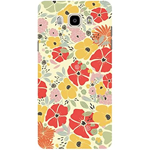 Koveru Back Cover Case for Samsung Galaxy J7-2016 - Flowers with colour