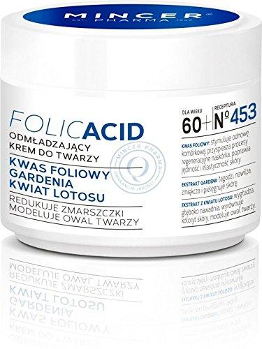 Mincer pharmaceutique Acide Folique Crème de jour anti-rides Gardenia Fleur et Lotus 60 + 50 ml