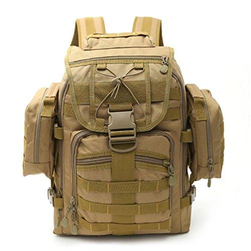 FFZH Molle campeggio zaino borse 60L litri tattico zaino militare zaino di campeggio (camuffamento ACU cachi) , E D