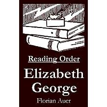 Elizabeth George - Reading Order Book - Complete Series Companion Checklist (English Edition)