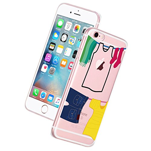 iPhone 6 Plus Case Cover Qissy® TPU iPhone 6 PLUS/ 6s Plus 5.5 Custodia coperchio trasparente per la copertura della cassa silicone Back cover Per Apple i Phone 6plus/6S plus 4