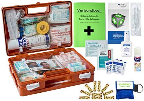 WM-Teamsport Sport-Sanitätskoffer S2 Plus Erste-Hilfe Koffer nach DIN 13157 + DIN 13164 + Sport-Ausstattung INKL. Sprühpflaster