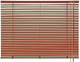 mydeco 110 x 175 cm Aluminium Jalousie Terracotta; inkl. Bedienstab, Deckenträger + Befestigungsmaterial Innenjalousie Sonnen- und Sichtschutz; fein regulierbar