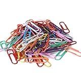 SODIAL(R) Env. 100pcs Revetu de Plastique Trombones de papier - couleurs assorties
