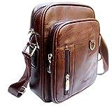 #5: Alexvyan Leather Brown Messenger Bag For Unisex