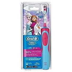 Idea Regalo - Oral-B Stages Power Spazzolino Elettrico Ricaricabile per Bambini con Personaggi Disney di Frozen Oral-B Stages Power, con 1 Manico e 1 Testina