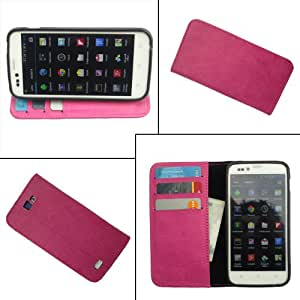 i-KitPit PU Leather Wallet Flip Case For Micromax Canvas Lite A92 (PINK)