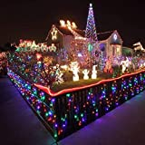 UEB 10m 100 LED Multi-Coloured Solar LED String Fairy Lights Garden Party Outdoor String Lights for Christmas Patio Garden