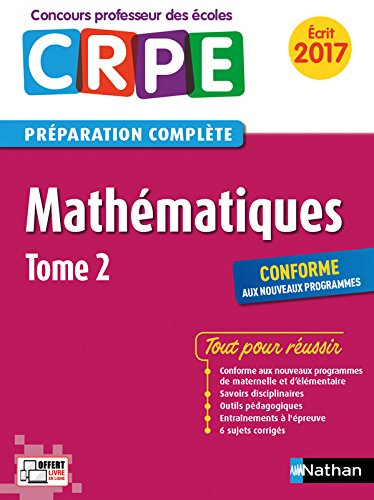 Mathématiques - Tome 2 - CRPE 2017 (02)