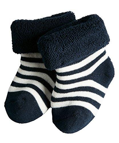 FALKE Unisex-Baby Erstlingsringel Socken, Blickdicht, marine, 62-68