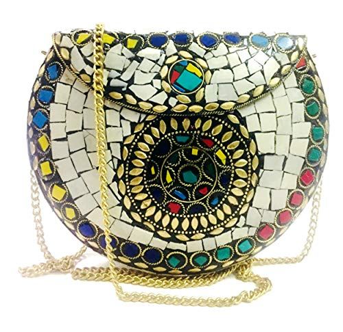 54376ee8572 Gauri Eid regalo fiesta embragues mujeres regalo Sling Clutch, bolsa de  mosaico, piedra embrague