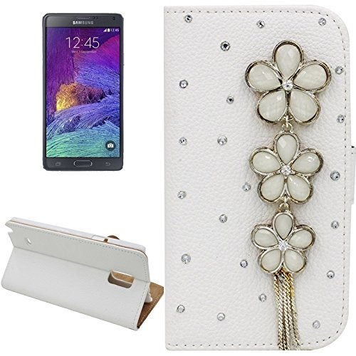 Schützen Sie Ihr Mobiltelefon Litchi Textur Schmetterling Fairy Diamond verkrustete Ledertasche mit Halter und Card Slots für Samsung Galaxy Note 4 für Samsung Handy ( SKU : S-SCS-3244M )