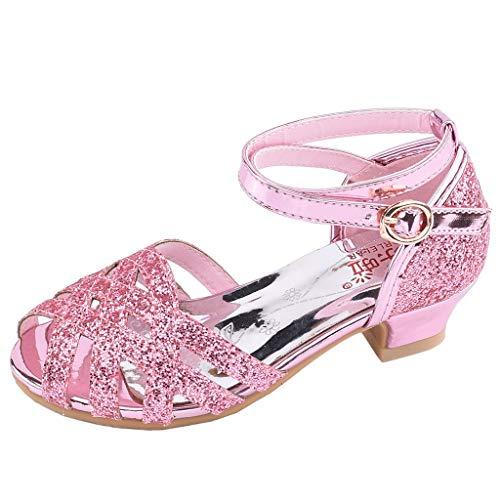 BURFLY mädchen Pailletten Latin Dance Schuhe Prinzessin Schuhe Sandalen weichen Boden Prinzessin Schuhe Tanzschuhe Strandschuhe -