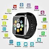 Bluetooth Smart Watch avec SIM et logement de carte TF et NFC, podomètre Santé montre Gt08pour Android Samsung [Full fonctions] et iOS Apple iPhone [fonctions] Smartphone partielle. SNT World (Argent)