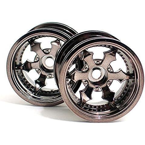 Spike Truck Wheel, Black Chrome (2): MT2 by HPI Racing - Chrome Truck Parti