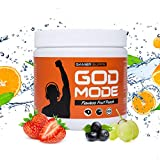 GAMER SUPPS God Mode Gaming Booster, der eSports Engery Drink für Gamer, Multivitamin Amino Getränk, wenig Kalorien und wenig Zucker, 280g = 40 Portionen, Geschmack:Flawless Fruit Punch