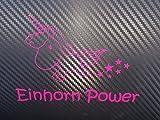 Aufkleber Einhorn Power (Pink)
