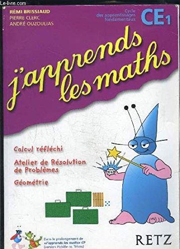 J'apprends les maths, CM1. 6 fichiers d'activités par Rémi Brissiaud, Pierre Clerc, André Ouzoulias