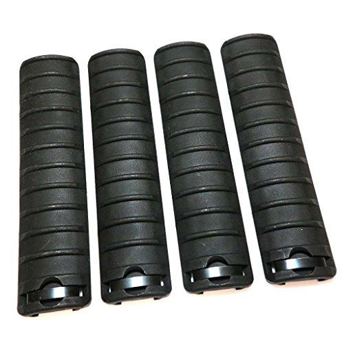 Airsoft Softair Ersatzteile 4 Stück Energy Knight Typ RIS RAS Rail Cover Schienenabdeckung Verkleidungs Schwarz