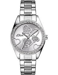 s.Oliver Damen-Armbanduhr Analog Quarz SO-2857-MQ