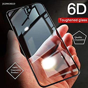 JGDWORLD Oppo A7 (2018) 6D (Next gen. of 5D) Full Edge to Edge 9H Hardness Crystal Clear Tempered Glass Screen Protector with Free Installation Cleaning Wipes