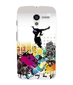 Fuson 3D Printed Music & Dance Designer Back Case Cover for Motorola Moto X - D643