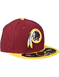 New Era WR 59FIFTY Authentic Kappe 10529743 7, Bordeaux-Yellow, 7