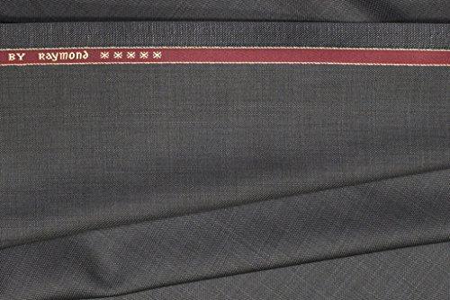 Raymond Trouser Fabric 1Pc 1.3Meter Trouser Length for Men\'s Solid Grey::Blue