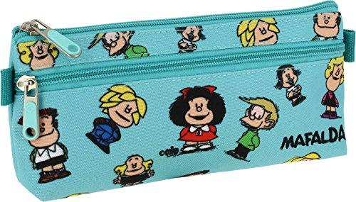 Grafoplás 37540747-Estuche portatodo con bolsillo en el frente diseño Mafalda Amigos