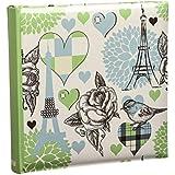 10 x 15 cm Vintage Arpan bloc de notas con caja de viaje antideslizante álbum de fotos para 200 fotos - Verde claro crema