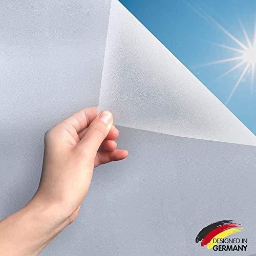 MARAPON ® Statische Fensterfolie selbsthaftend Blickdicht [60x200 cm] inkl. eBook mit Profitipps - Sichtschutzfolie Anti-UV - Milchglasfolie
