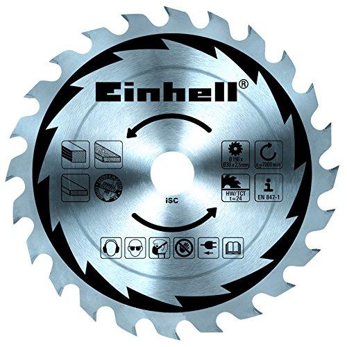Einhell Handkreissäge TC-CS 1400 (1400 W, max. 66 mm, Sägeblatt Ø 190, 24 Zähne, Softstart, Parallelanschlag) - 2