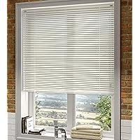 Veneciana aluminio 25mm (desde 36cm hasta 240cm de ancho). Color marfil. Medida 124cm x 160cm para ventanas y puertas