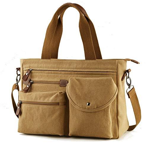 Willsego borsa a tracolla casual da borsa da viaggio (colore : cachi, dimensione : 39x30x7cm)