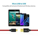 [2-Pack] Anker Micro USB Cable 6ft/1.8m Nylon Braided Tangle-Free Micro Cable with Gold-Plated Connectors for Android, Samsung, HTC, Nokia, Sony and More (Red)
