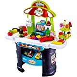 Toyshine 61 Pcs Supermarket Ice Cream Shop With Sound Effects And Playing Accessories