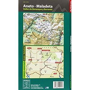 Aneto Maladeta. Valles de Benasque y Barravés. Escala 1:25.000. Mapa Excursionista. Castellano, English, Française. Alpina Editorial. (Mapa Y Guia E