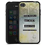 DeinDesign Apple iPhone 4s Coque en Silicone Étui Silicone Coque Souple Some People...