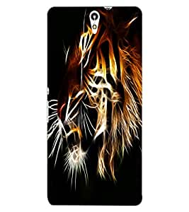 ColourCraft Tiger Look Design Back Case Cover for SONY XPERIA C5 ULTRA DUAL