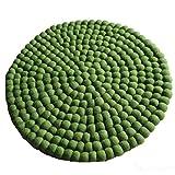 Maharanis Fairtrade Filz Untersetzer Topf Untersetzer GROSS grün 40 cm handgefertigt aus reiner Wolle, hitzebeständig